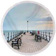 Swanage - England Round Beach Towel