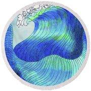 141 - Waves Round Beach Towel