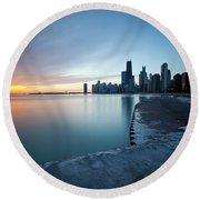 1415 Chicago Round Beach Towel