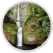 1417 Multnomah Falls Round Beach Towel