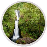 1418 Bridal Veil Falls Round Beach Towel