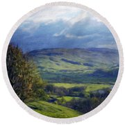 Art Landscape Nature  Round Beach Towel
