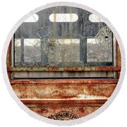 1449 Illinois Trolley Museum Round Beach Towel