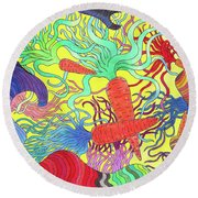 147 - Carrot Canyon Round Beach Towel