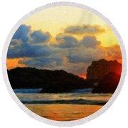 Nature Landscape Light Round Beach Towel
