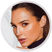 Gal Gadot Art Round Beach Towel