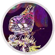 Insect Nature Live  Round Beach Towel