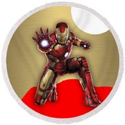 Iron Man Collection Round Beach Towel