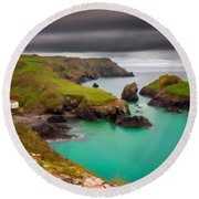 Landscape Painting Acrylic Round Beach Towel