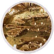 Onondaga Cave Formations Round Beach Towel