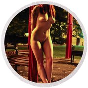 Shay Hendrix Round Beach Towel