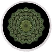 15 Symmetry Celery Bulb Round Beach Towel