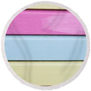 Wooden Panels Round Beach Towel
