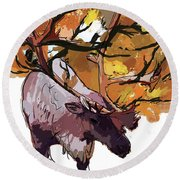 150 Caribou Speed Paint Round Beach Towel