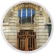 151 Rue De Grenelle Paris Round Beach Towel