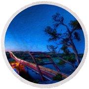 Art Landscape Nature  Round Beach Towel