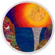16-7 Village Sun Round Beach Towel