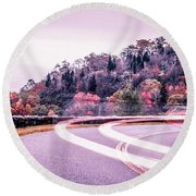 Autumn Season On Blue Ridge Parkway Round Beach Towel