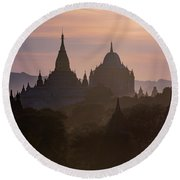 Bagan - Myanmar Round Beach Towel