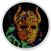 Mask. The Sons Of The Harpy. Fantasy. Round Beach Towel