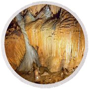 Onondaga Cave Formations Round Beach Towel