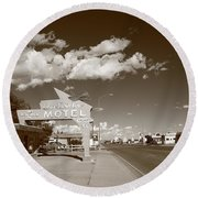 Route 66 - Tucumcari New Mexico Round Beach Towel