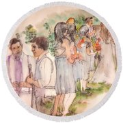 The Wedding Album  Round Beach Towel