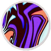 1631 Abstract Thought Round Beach Towel
