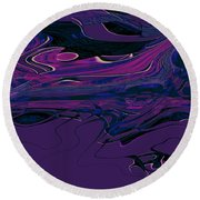 1673 Abstract Thought Round Beach Towel