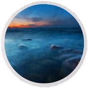Nature Landscape Paintings Round Beach Towel