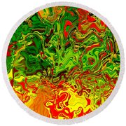 1683 Abstract Thought Round Beach Towel