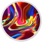 1697 Abstract Thought Round Beach Towel