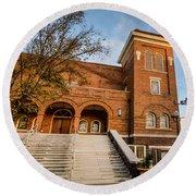 16th Street Baptist Church Steps In Birmingham Alabama Round Beach Towel