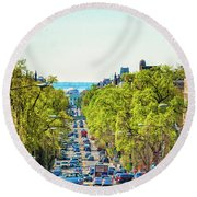 16th Street Northwest Round Beach Towel