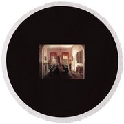 Jlm-1820-henry Sargent-the Dinner Party Henry Sargent Round Beach Towel