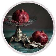 Pomegranate Round Beach Towel