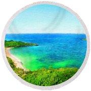 Landscape Pictures Nature Round Beach Towel