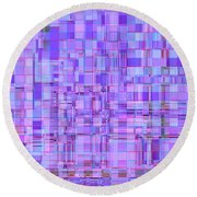 1704 Abstract Thought Round Beach Towel