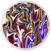 1717 Abstract Thought Round Beach Towel