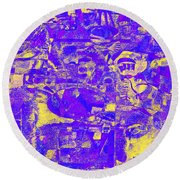 1743 Abstract Thought Round Beach Towel