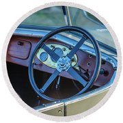 1743.032 1930 Mg Steering Round Beach Towel