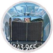 1743.040 1930 Mg Classic Car Round Beach Towel