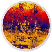 1745 Abstract Thought Round Beach Towel