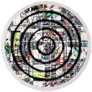 1766 Abstract Thought Round Beach Towel