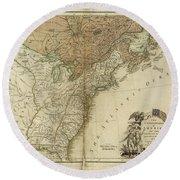 1783 United States Of America Map Round Beach Towel