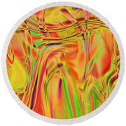 1788 Abstract Thought Round Beach Towel