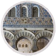 Alcazar Of Seville - Seville Spain Round Beach Towel