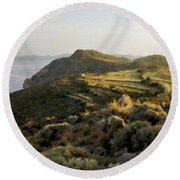 Plan E Landscape Round Beach Towel
