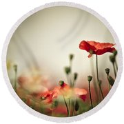 Poppy Meadow Round Beach Towel