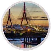 1812 Constutition Bridge From Rio San Pedro Puerto Real Spain Round Beach Towel